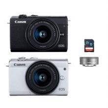 [가방+16G메모리 증정]캐논 EOS-M200 미러리스 카메라 더블렌즈KIT[블랙][본체+15-45mm+22mm IS STM]