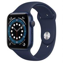 애플워치 6 GPS 44mm 블루 알루미늄 케이스 딥네이비스포츠밴드