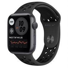 애플워치 6 Nike GPS 44mm 스페이스그레이 알루미늄 케이스 안드라사이트블랙나이키스포츠밴드