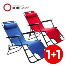 접이식 침대 의자 고급형 1+1 레드