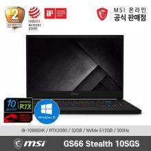 MSI 게이밍 노트북 GS66 Stealth 10SGS WIN10 (10th-i9/RTX2080SUPER/300Hz)