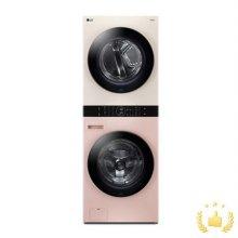워시타워 오브제 컬렉션 세탁기(24kg)+건조기(16kg) 세트 W16PE (원바디 플랫 디자인, 원바디 런드리 컨트롤, 건조 준비기능, 드럼-핑크, 건조기-베이지)