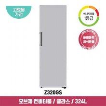 오브제 컨버터블 스탠드형 김치냉장고 Z320GS (324L, 실버, 1등급)
