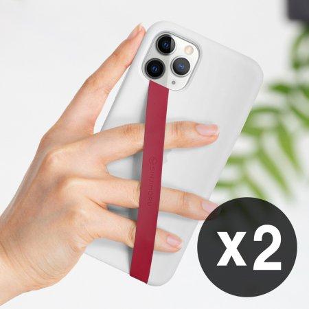 1+1 신지루프 실리콘 핸드폰 핑거스트랩 - 와인레드(2개)
