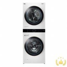 워시타워 세탁기(21kg)+건조기(16kg) 세트 W16WTN (원바디 플랫 디자인, 원바디 런드리 컨트롤, 건조 준비 기능, 인공지능 DD, 릴리화이트)