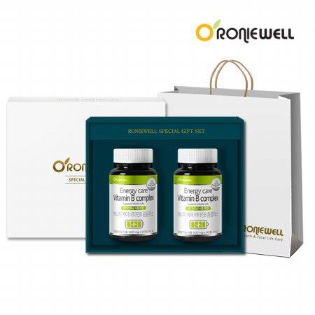 에너지케어 비타민B 콤플렉스 90정 x 2개 선물세트 (6개월분)