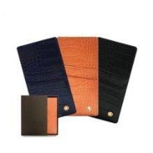 악어무늬 소가죽 슬라이드형 카드 현금 핸드폰케이스