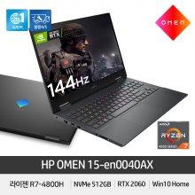 OMEN 15-en0040AX 노트북 R7-4800H/RTX 2060/16GB/512GB/144Hz/300Nits