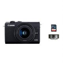 [16G메모리 증정][정품]캐논 EOS-M200 미러리스 카메라 더블렌즈키트[블랙][본체+15-45mm+22mm IS STM]
