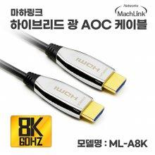 마하링크 하이브리드 광 Ultra HDMI Ver2.1 8K AOC 케이블 3M ML-A8K003