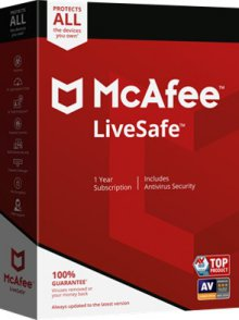 맥아피 라이브세이프 LiveSafe 1 Device 1년
