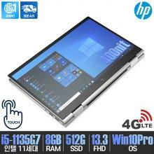 엘리트북 X360 830 G8 3D4L7PA 노트북 i5-1135G7 8GB 512GB Win10Pro LTE 셀룰러 13.3inch (실버)