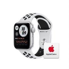 [Applecare+] 애플워치 SE Nike GPS 40mm 실버 알루미늄 케이스 퓨어플래티넘블랙나이키스포츠밴드