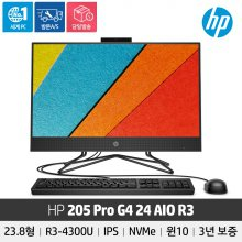 [3년 무상보증] HP 205 Pro G4 36M02PA 24인치/라이젠3/NVME 256GB/RAM 8GB/IPS패널/윈10
