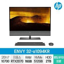 ENVY 32-a1094KR 일체형PC / i7-10세대 / 4K / Win10 Pro / 16GB / 512GB / 2TB