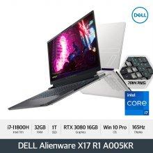 [예약판매/신제품] DELL 에일리언웨어 X17 R1 A005KR [i7/32GB/1TB/FHD 165Hz/RTX 3080/Win10 Pro]