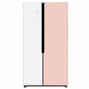 [포토상품평 이벤트]하이얼 양문형 글라스 도어 냉장고 HRS563MNPW (521L)