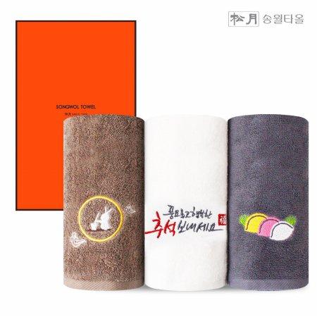송월타올 달토끼 명절 추석선물세트 150g 1P 박스포장