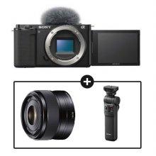 소니 카메라 패키지[ZV-E10L 블랙+SEL35F18+GP-VPT2BT]