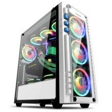 다얼유 태풍의눈 강화유리 RGB 화이트 9팬