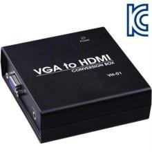 VGA(RGB)+Stereo to HDMI 컨버터