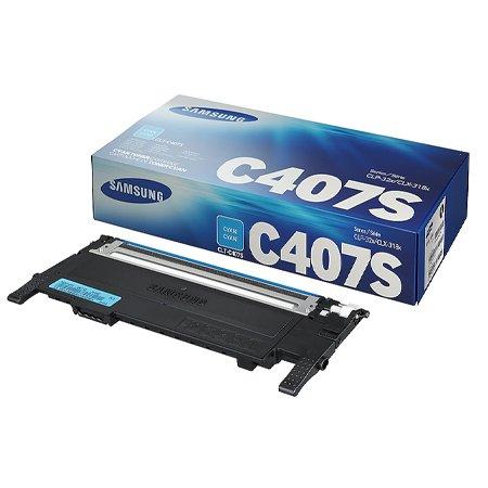 [정품]삼성 컬러토너[CLT-C407S][파랑][1,000매/호환기종:CLP-320K,CLX-3180K]