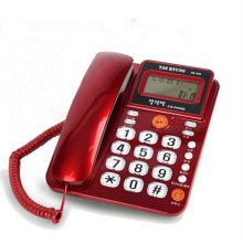 (스마트픽전용) 태경 유선전화기 TK-550 [레드/ CID(수신30개/발신5개)/ 강력벨(소-중-강력벨)/ 광다이얼기능]