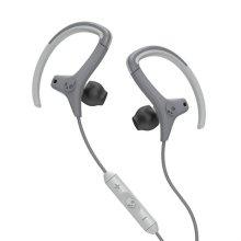 스컬캔디 이어폰 SKULL-CHOPS [ 그레이 / 오픈형 스포츠 이어폰 / 수분과 땀에 강한 Sticky Gels 소재 / 3버튼 리모콘 (통화,볼륨조절 가능) ]