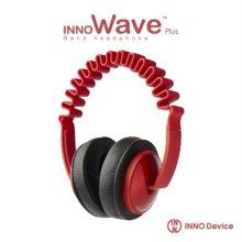 INNO Wave2 헤드폰 (레드) [독특한 웨이브 디자인 / 휴대용 기기에 최적화된 1.2m 코드와 플러그 / 조절 가능한 헤어밴드 슬라이더]