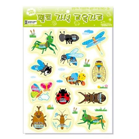 교육자료 펠트자석교구 (모형자석 / 곤충) 1set