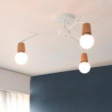 [LED] 보우 3등 방등 블랙:주광색(하얀빛)