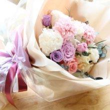 [프리저브드플라워] 다알리아&리시안셔스꽃다발