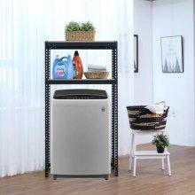 2단 무볼트 조립식앵글 통돌이세탁기선반-블랙(700x400x1800/1.6T)