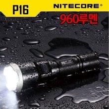 나이트코어 LED 후레쉬 P16 960루멘 충전용 랜턴