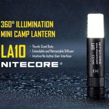 나이트코어 LED 후레쉬 LA10 135루멘 AA/1