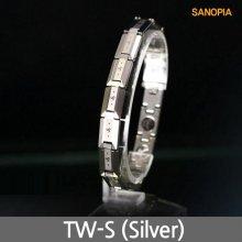 사노피아 게르마늄 텅스텐 팔찌 TW-S (실버 S)