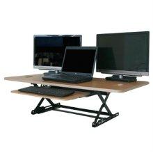 DeskTopDesk 높낮이 조절 스탠딩책상 DTD-L-EMB-SK [망블피치 / 대형 / 슬라이드 키보드 받침대]
