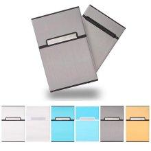 실버 포인트 담배케이스 알루미늄 메탈 케이스 _차콜블랙