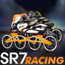 SR7 레이싱 인라인 풀세트/선수용 스피드스케이팅 _블랙옐로우_EU35_213mm