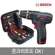 [핸픽스]보쉬10.8V리튬충전전동드릴세트_B10.8_PRO2패키지(드릴+고급수공구가방+액세사리100P포함)