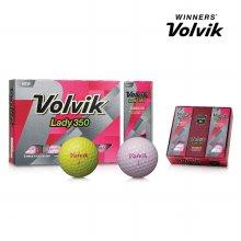 볼빅 레이디350 Lady350 12구 볼 골프볼 골프용품 핑크