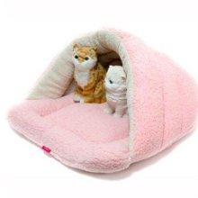양털형 극세사 동굴하우스 - 핑크 애완용품 W21A2DA