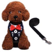 하네스세트 L(닻 네이비) 강아지옷 애견옷 애견줄 W1B6268