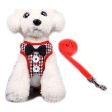 하네스세트 M(레드체크) 강아지옷 애견옷 애견줄 W1B626D