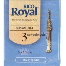 RICO Royal 소프라노 색소폰 리드 3호 (색소폰, 섹소폰)