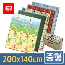 캠핑매트 (중형_컬러) 200x140cm 05_[중형] 15단(티티)