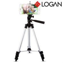 로건 4단 스마트폰 삼각 거치대 카메라 삼각대 4단 삼각대 기본홀더 블루투스 리모컨 B481