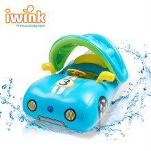 물놀이용 대형 아기 보행기 튜브 스포츠카/블루