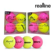 리얼라인 S 스크린 골프공 (컬러볼/스크린전용/4알)
