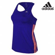 아디다스 여성 클라이마라이트 삼선 에센셜 민소매 티셔츠-S21038